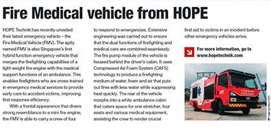 Fire Medical vehicle from HOPE