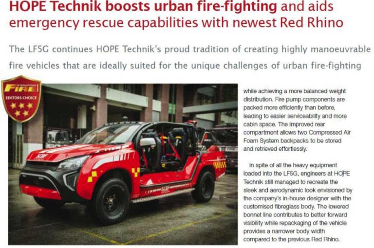 HOPE Technik boosts urban fire-fighting