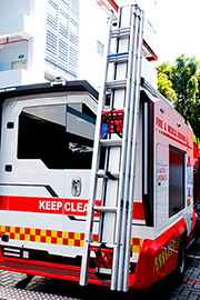 exterior of fire medical vehicle