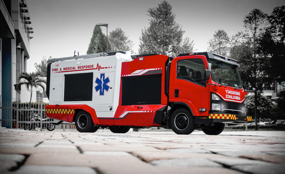 Debut of Singapore's first dual function fire medical vehicle