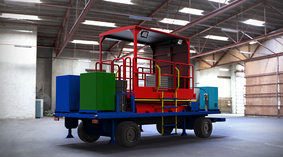 TRIGEN Automotive Scissor Lift Mobile Workshop Trailer
